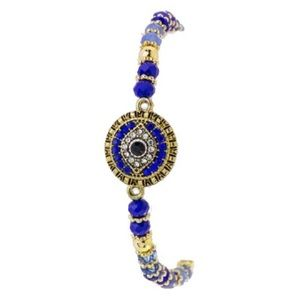 Evil Eye Blue Stretch Bracelet