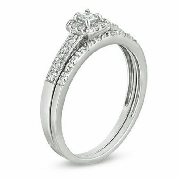 22% off Zales Jewelry 💍BRIDAL SET💍Diamond Engagement Ring and Band from C