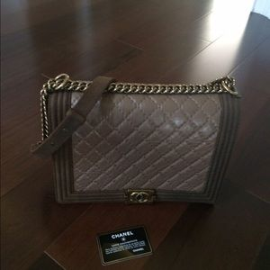 Authentic Chanel Large Boy Bag