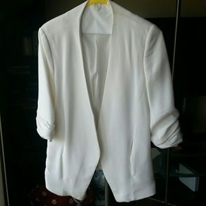 Zara White Sleeve Jacket