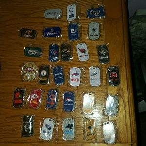 Accessories - NFL Dog Tags with Chain-All Teams