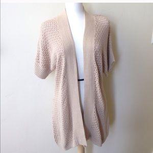 LC Lauren Conrad Sweaters - Lauren Conrad Long Tan Duster Cardigan