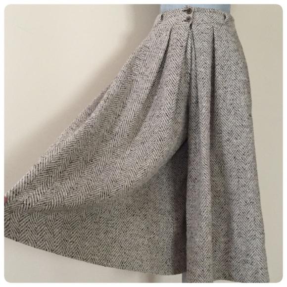 Vintage - Vntg wool gaucho pants: tweed herringbone! from Ela's ...