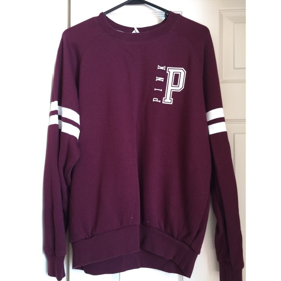PINK Victoria's Secret - RARE Maroon Pink VS Crewneck Sweater from ...