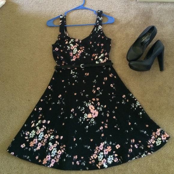 Lauren Conrad Dresses Black Floral Dress Poshmark
