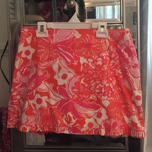 Orange and pink Lilly Pulitzer skirt