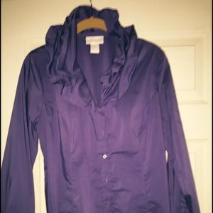 Soft Surroundings Royal Blue button up shirt.