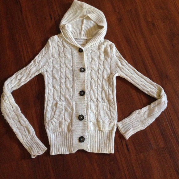 86% off None Sweaters - Cream hooded sweater from Ashleigh's ...