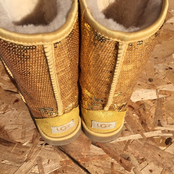 gold sparkle uggs on sale