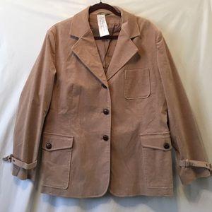 Jackets & Blazers - Tan Velvet Riding Blazer Jacket European France 48