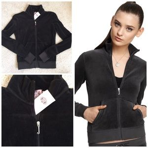 Dark brown juicy couture velour track jacket