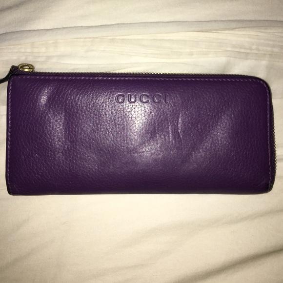 8e2c0918dfb7 Gucci Bags | Purple Zip Wallet | Poshmark