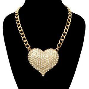 Jewelry - B4L HAIR HEART NECKLACE /EARRING SET