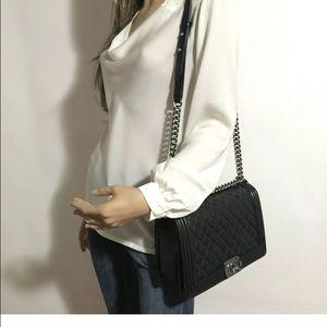 ebf8e5a68254 CHANEL Bags | Sold Out New Medium Boy In Black Shw | Poshmark