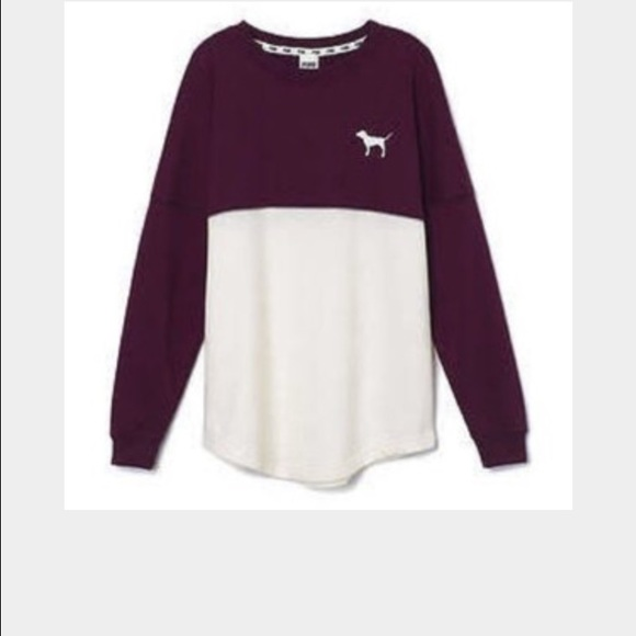 49% off PINK Victoria's Secret Sweaters - Burgundy sweatshirt from ...