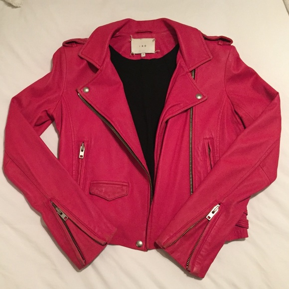 50% off IRO Jackets & Blazers - Iro Hot Pink Distressed Leather ...