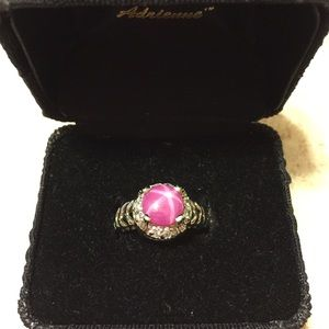 Jewelry - 925 Sterling Ring with 8mm 👛Pink Star Sapphire