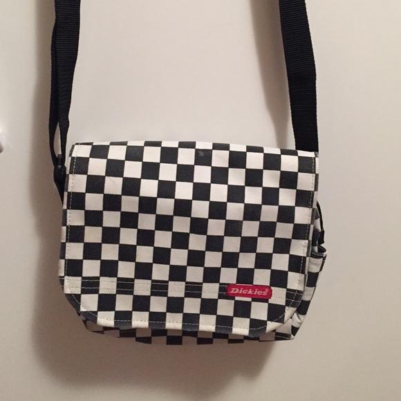 cda3a4988 Dickies Handbags - Black-and-white checkered Dickies cross body bag