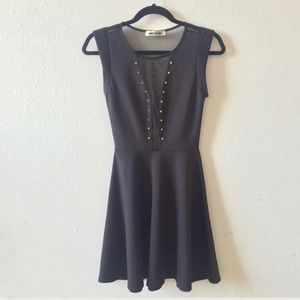 Mystic Dresses & Skirts - Sheer Cut Out Studded Dress