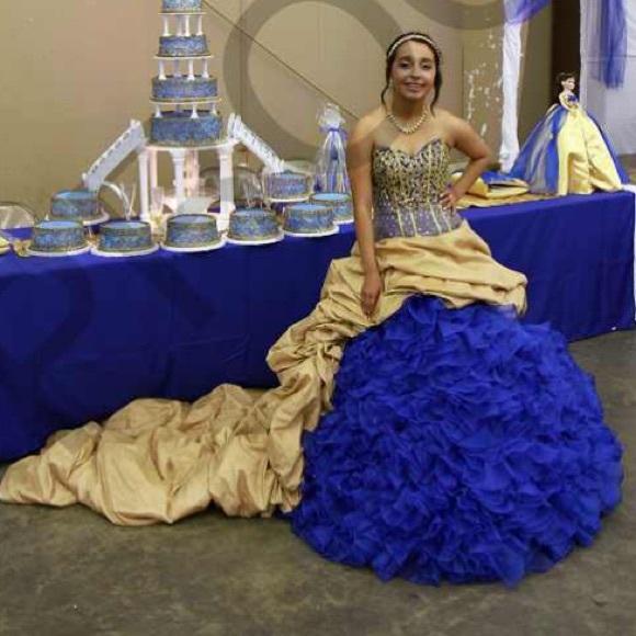 Royal Blue/ Gold Dress