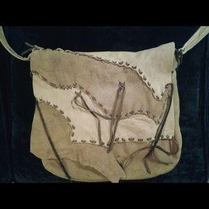 Vintage Suede Boho Messenger Bag ⚜
