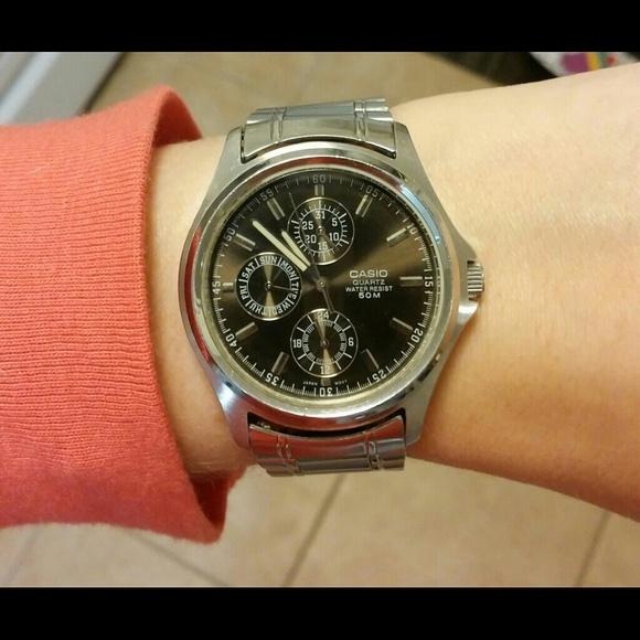 Casio Quartz Movement Chronograph Stainless Steel