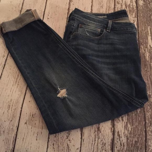 71% off a.n.a Denim - Ana Boyfriend Distressed Denim Jeans plus ...