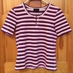 APC striped Henley T