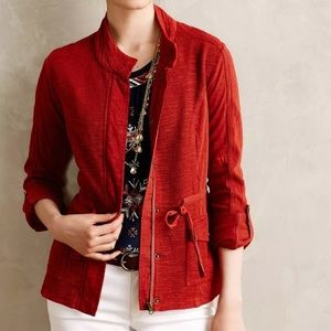 Anthropologie Rust/Wine Knit Jacket