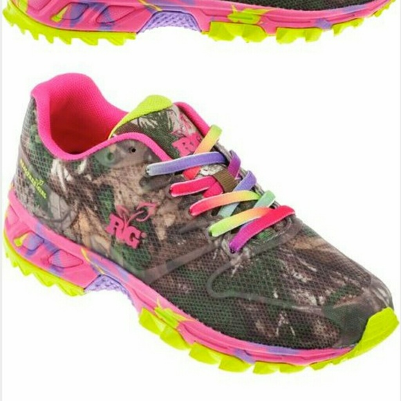 b8e3c03e541f Womens camouflage camo shoes pink   green