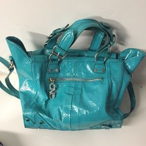 Costume National Handbags - Authentic Costume National CNC turquoise large bag