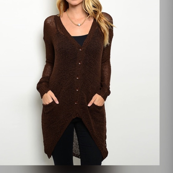 69% off Sweaters - LIGHTWEIGHT BROWN CARDIGAN-ONE LEFT from ...