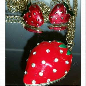 Strawberry Jewelry Set