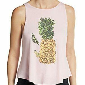 Wildfox pineapple tank size xs