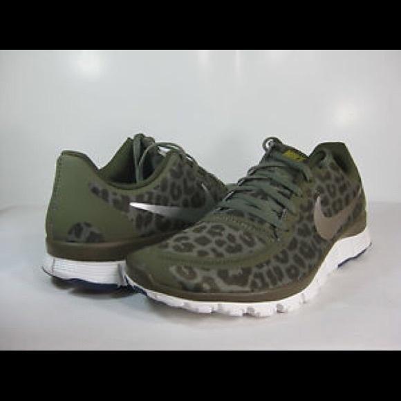 separation shoes e92da f7f79 nike free leopard olive