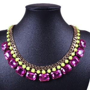 Purple Gemstone Statement Necklace