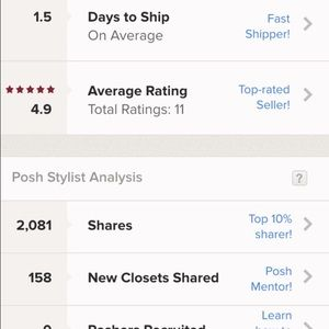 Other - my ratings as a seller!