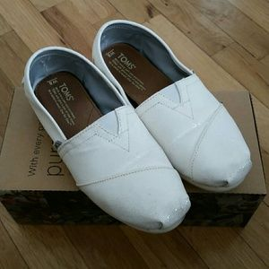 toms toms glitter bridal white shoes from gloria s