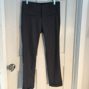 Anthropologie plaid check flannel trousers 4