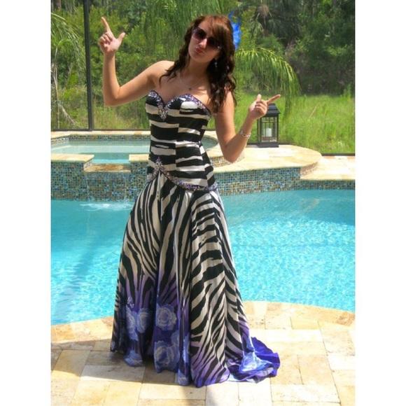 Dresses Zebra And Purpleblue Ombr Prom Dress Poshmark