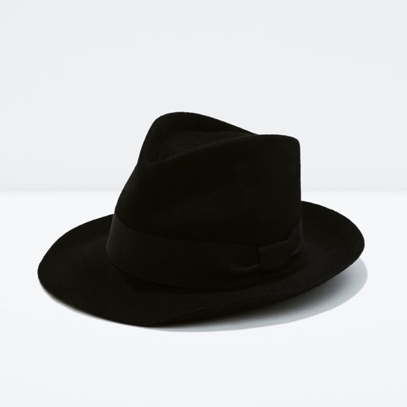 Zara Accessories - Zara black trilby hat