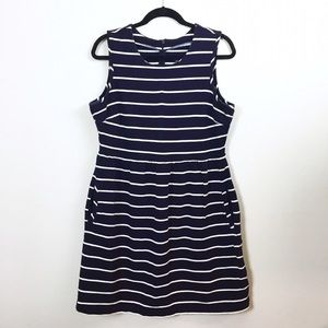 Lands' End Dresses & Skirts - Lands' End Canvas striped fit + flare dress.