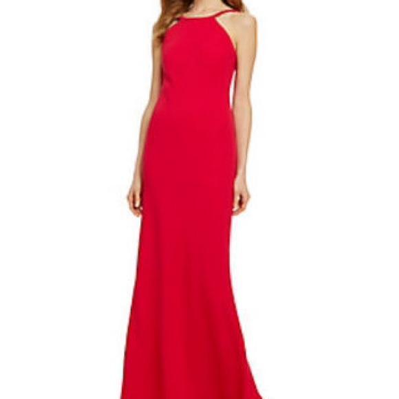 Calvin Klein Dresses   Halter Neckline Gown   Poshmark