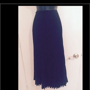 Vintage Pleated Maxi Skirt