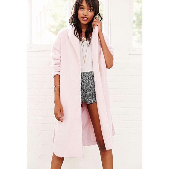 Urban Outfitters Jackets Coats Kimuchi Blue Fuzzy Robe Coat Nwot