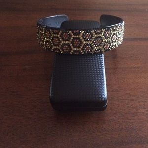 Sparkly Gold & Brown Hexagon Headband