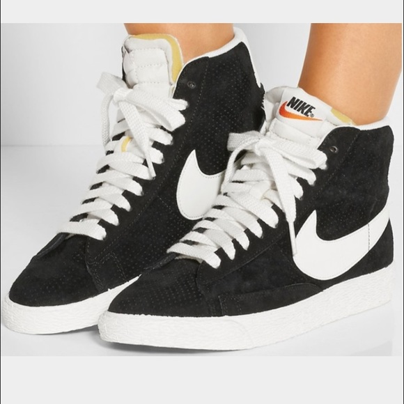 Nike Blazer perforated suede high top sneakers