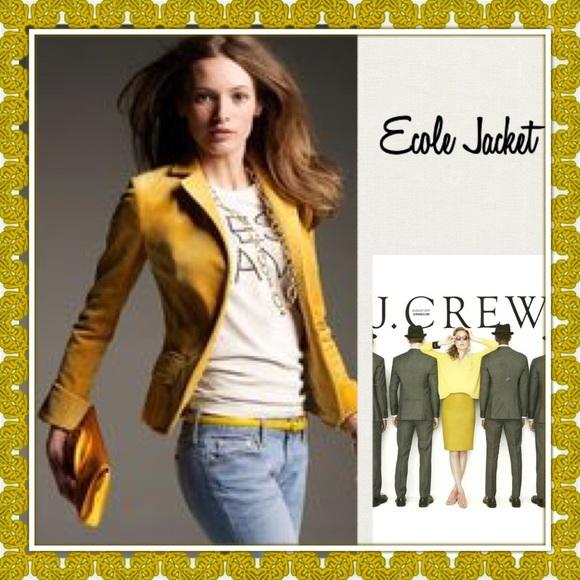 ab44543feb87 J. Crew Jackets & Coats | Hp Euc Jcrew Ecole Velvet Jacket Size 4 ...