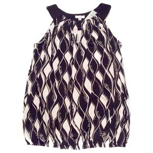 Cache Tops - 🌹 HP NWT Cache Black and White Top Size Medium