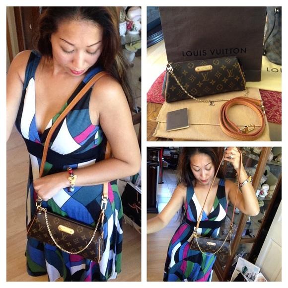 5c79a7606165 Louis Vuitton Handbags - Like new! Authentic LV monogram Eva clutch